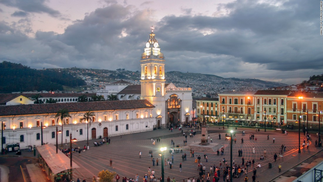 Dating to the 16th century and once used as a bullfighting ring, the capital of Quito's Plaza de la Independencia houses government buildings and a cathedral. The city of Quito is a UNESCO World Heritage Site.