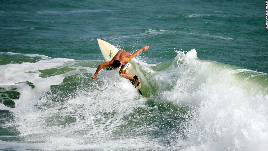 Ecuador's surf scene is gaining traction. The beach town of Salinas (pictured) was the site of the 2014 International Surfing Association's World Junior Surfing Championship.