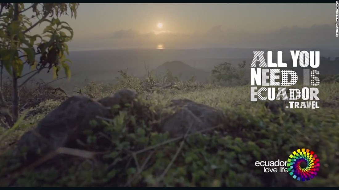 This screen grab comes from an Ecuador tourism advertisement similar to the one expected to run during the 2015 Super Bowl. Ecuador is the first foreign country to buy ad time to promote tourism during the game. So what's there to do in Ecuador? Click on to see some of the country's spectacular scenery.
