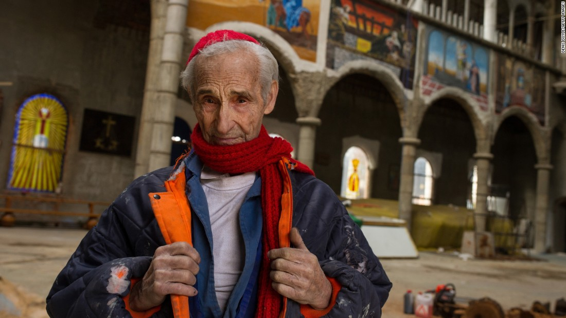 The 89-year-old Gallego has been building what is known locally as Don Justo's Cathedral, since 1963. He mainly uses recycled materials and excess items donated by local building companies.<br />