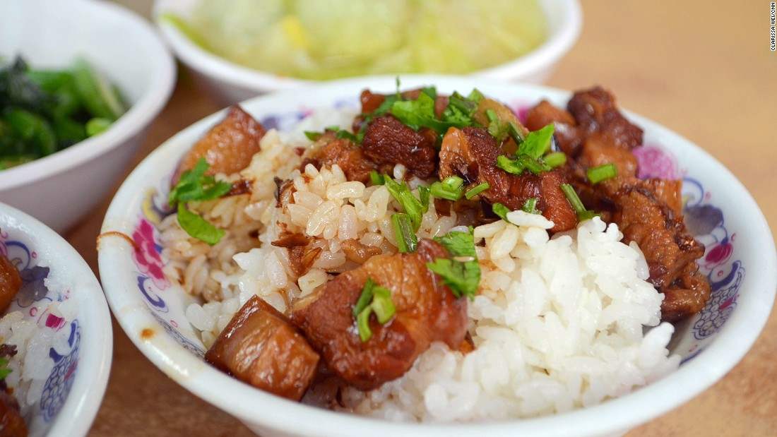 Heaven in a bowl? Melt-in-the-mouth diced pork over rice is a great comfort food in winter.