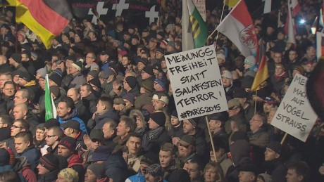 Inside march against Islam in Germany