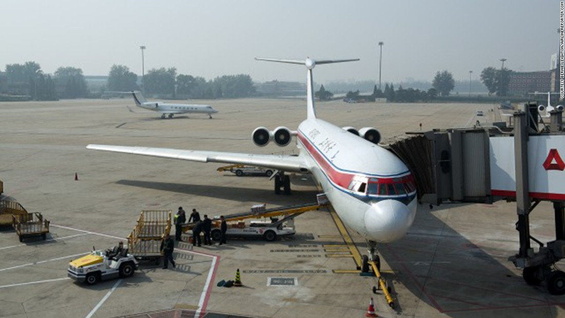This Ilyushin IL-62 was built in the 1980s, and features four, rear-mounted engines and a so-called T-tail. Efforts to modernize Air Koryo's fleet have been stymied by longstanding international economic sanctions against North Korea.