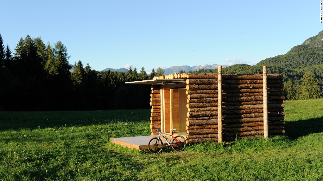 "With its front deck folded up, the <a href=""http://www.designboom.com/architecture/lab-zero-yeta-log-cabin/"" target=""_blank"">Yeta log cabin </a>looks like nothing more than a stack of chopped wood -- telling little of the living space, kitchen, bathroom and shower inside."