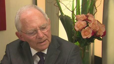 exp Wolfgang Schaeuble Richard Quest Davos _00002001