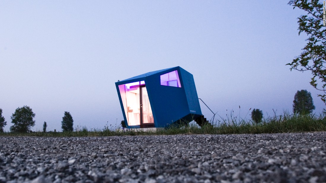 "The <a href=""http://www.dezeen.com/2012/08/09/hypercubus-by-wg3/"" target=""_blank"">Hypercubus</a> is a mobile 2-person hotel room which can be dropped off at music festivals or outdoor events, and provide warm, secure accommodation with a toilet and sink."