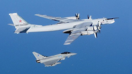 Russian bombers fly over British Channel