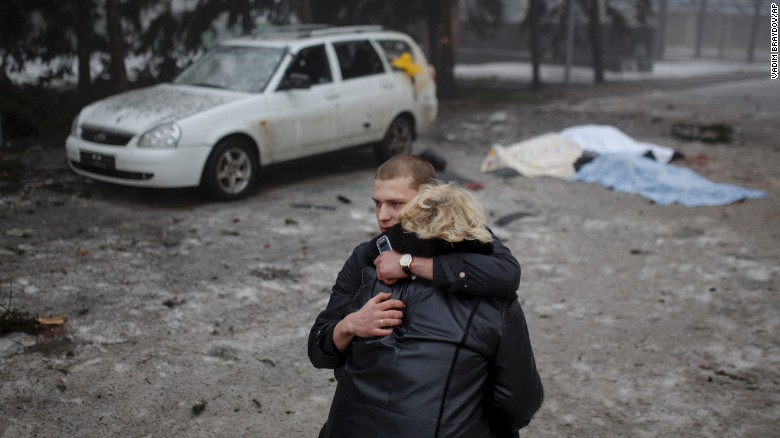 Ukrainian civilians despair as fighting rages