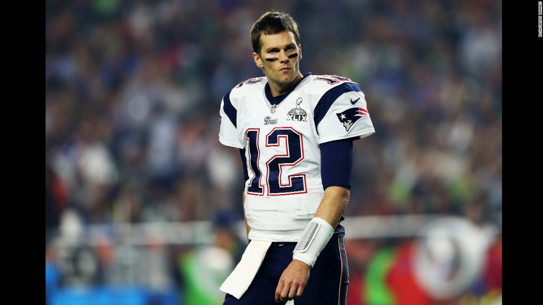 Brady walks off the field during the third quarter.