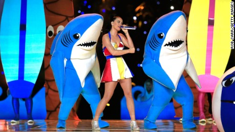 Meet the dancing sharks that stole the Super Bowl