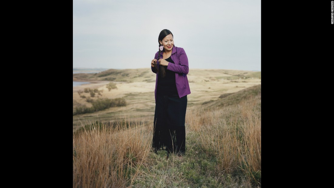 Thipiziwin Young, 33, is a teacher on the Standing Rock Sioux Reservation in South Dakota. She has dedicated her life to learning and teaching the Lakota language, a language that has been dying over the last generations. She and some of her students sang Lakota songs to President Barack Obama and the first lady when they visited the reservation in June.