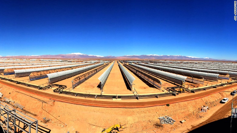 The complex, opened in February 2016, is the first of several phases. Morocco is investing heavily in renewable energy to reduce its dependency on fossil fuels.