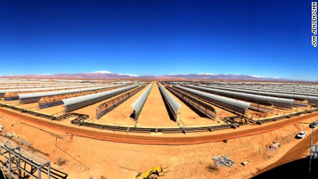 "MOROCCO: ""Parabolic mirrors at the Noor 1 solar plant in the desert outside Ouarzazate. The complex is due to open later this year, and will be the first of several phases. Morocco is investing hundreds of millions of dollars in renewables to reduce its dependency on fossil fuels for energy."" - CNN's Jon Jensen Follow @jonjensencnn and other CNNers on the @cnnscenes gallery on Instagram for more images you don't always see on news reports from our teams around the world."