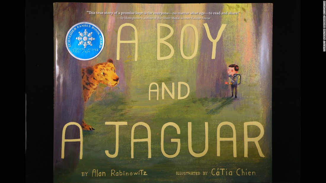 """A BOY AND A JAGUAR"" written by Alan Rabinowitz and illustrated by Catia Chien, wins the Schneider Family Book Award for children ages 0 to 10."