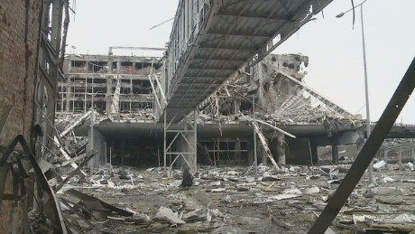 CNN goes inside destroyed Ukrainian airport