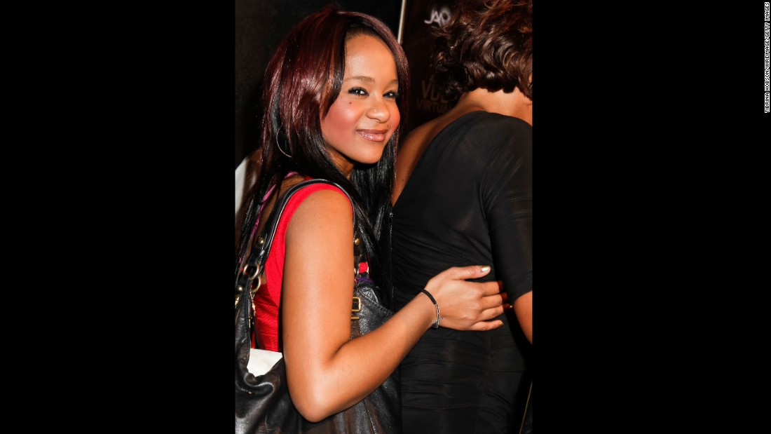 Bobbi Kristina arrives at a 2012 Grammys party in Hollywood, California.