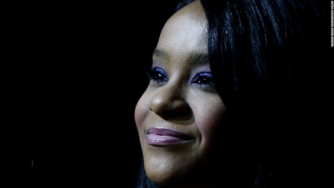 Bobbi Kristina Brown, the daughter of singers Whitney Houston and Bobby Brown, was found unresponsive in a bathtub at her Georgia home on January 31, 2015. She died at an Atlanta-area hospice on July 26, 2015 at the age of 22.