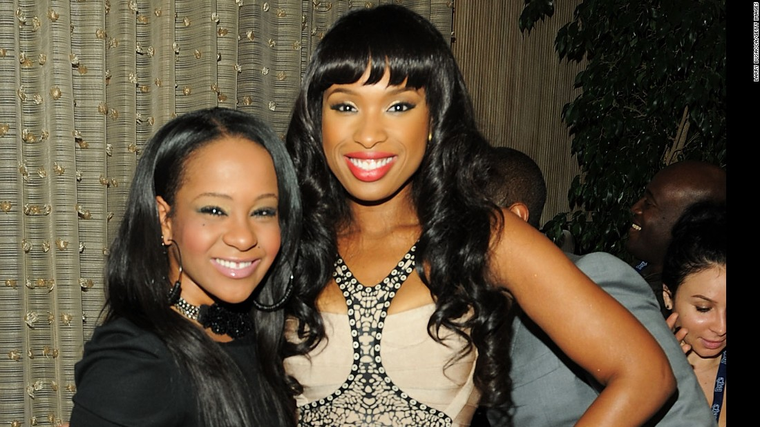 Singer-actress Jennifer Hudson, right, poses with 18-year-old Bobbi Kristina at a pre-Grammys gala in 2011.