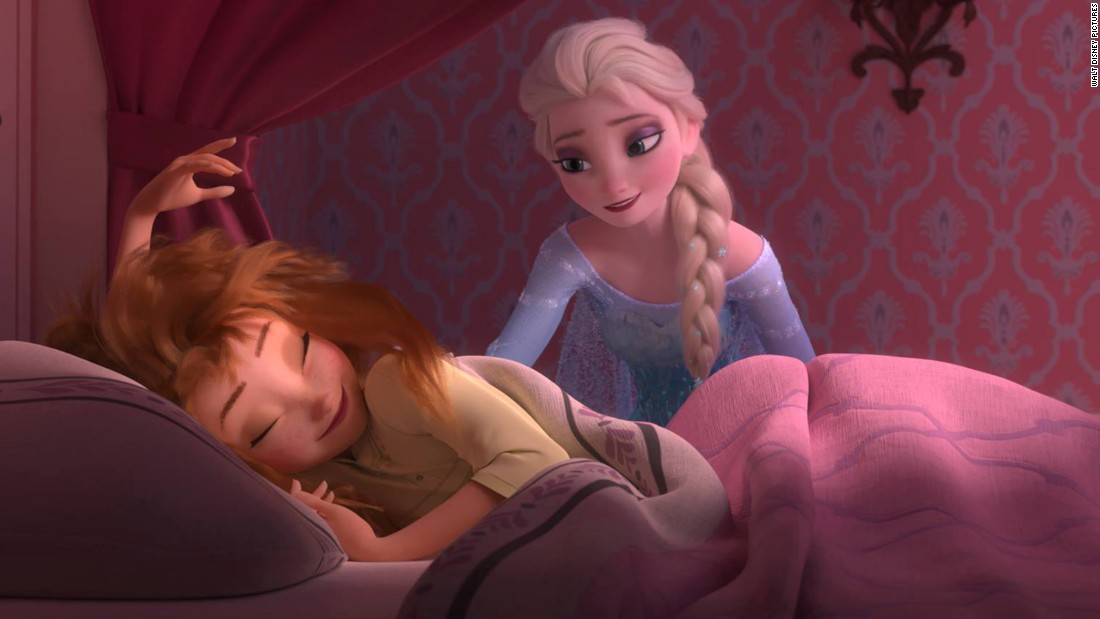 "Disney has released images from its animated short, ""Frozen Fever,"" which hits theaters next month. This one, in which Elsa appears to wake her younger sister, Anna, plays on a similar scene from the beginning of ""Frozen."""