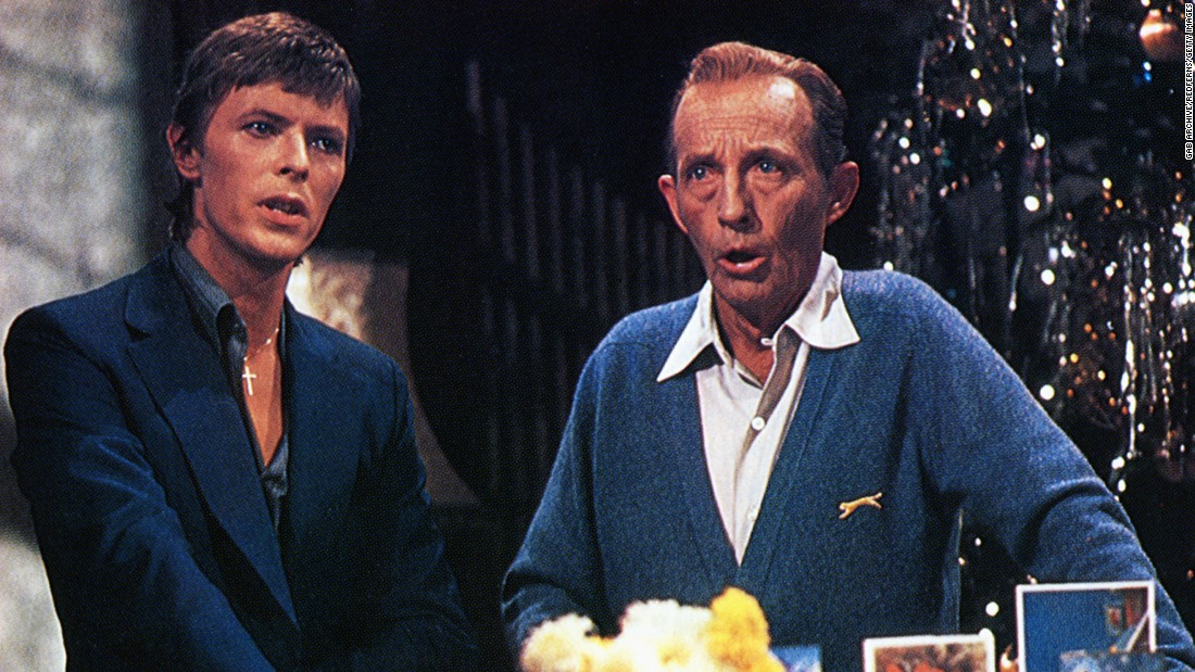 "David Bowie once again had an unusual musical partnering, this time with Bing Crosby<a href=""http://www.washingtonpost.com/wp-dyn/content/article/2006/12/19/AR2006121901260.html"" target=""_blank"">. In 1977, composers worked frantically to rearrange ""Peace on Earth/ Little Drummer Boy"" </a>to a version that Bowie would agree to sing with Crosby on the latter's Christmas special. They  succeeded and the result is Christmas magic."