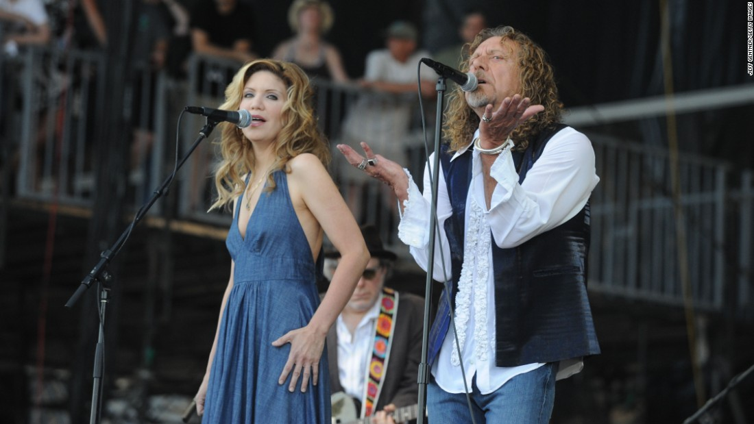 "The bluegrass singer Alison Krauss and rocker Robert Plant came together for the 2007 album ""Raising Sand."" In 2009 the project won the album of the year Grammy."