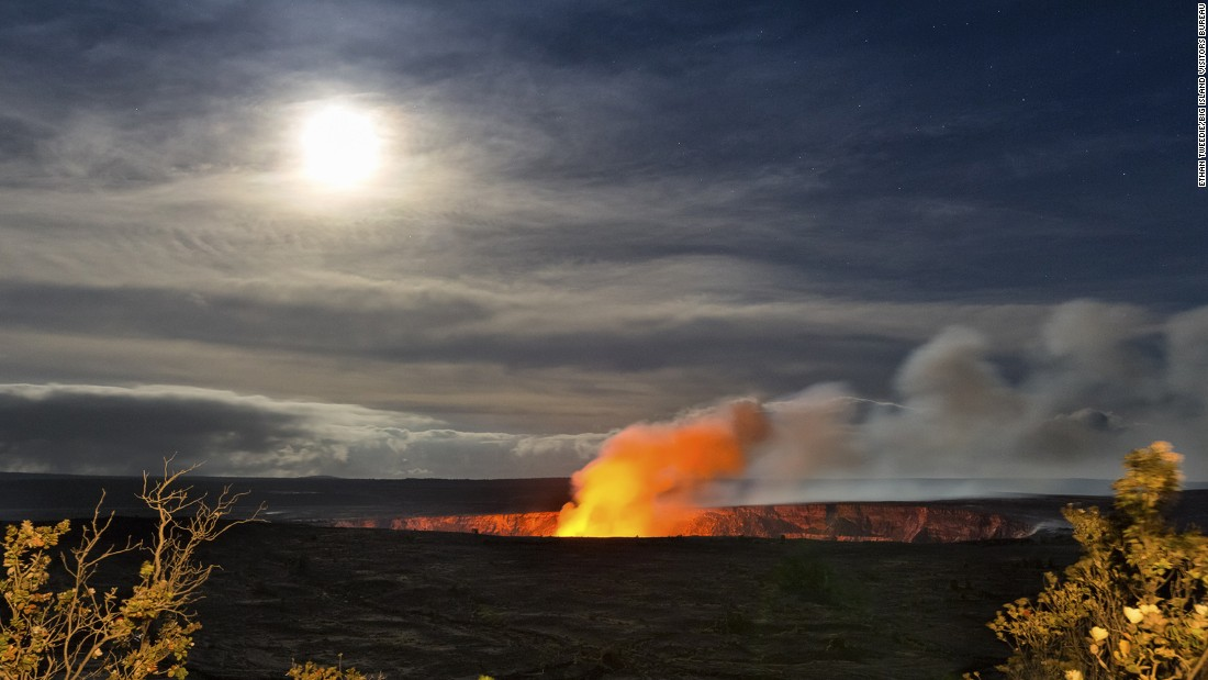 Volcanic eruptions create a constantly changing landscape and lava flows make unique geological formations. The park has two of the most active volcanoes in the world, Mauna Loa and Kilauea. Arndt lists the Hawaii attraction as his first World Heritage Site visit.
