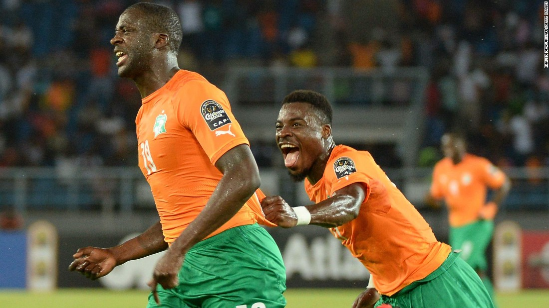 Manchester City midfielder Yaya Toure scored a stunning opener to put Ivory Coast ahead, rifling home an unstoppable shot from the edge of the area.