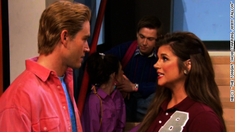 Fallon stages 'Saved By The Bell' reunion