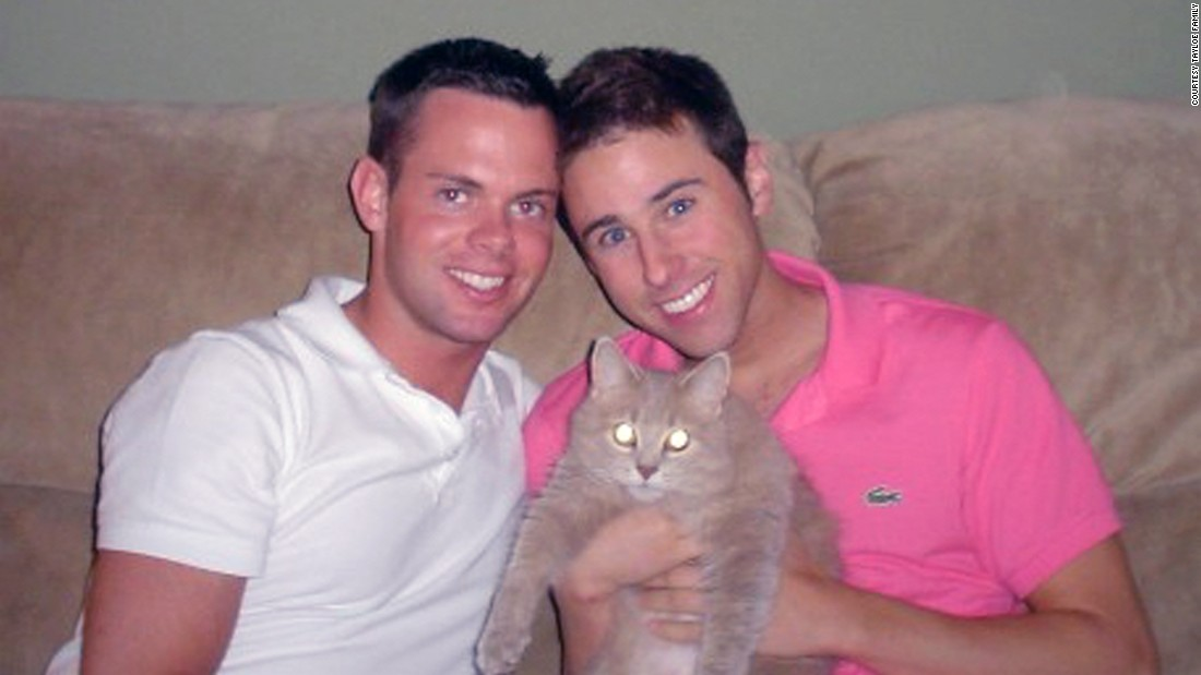 "Scott Tayloe, right, and Josh Holder first met at a Starbucks in 2002. ""He didn't have a name tag, so I always called him Starbucks Boy,"" Scott recalls. But it wasn't until the summer of 2004 that they reconnected and began dating."