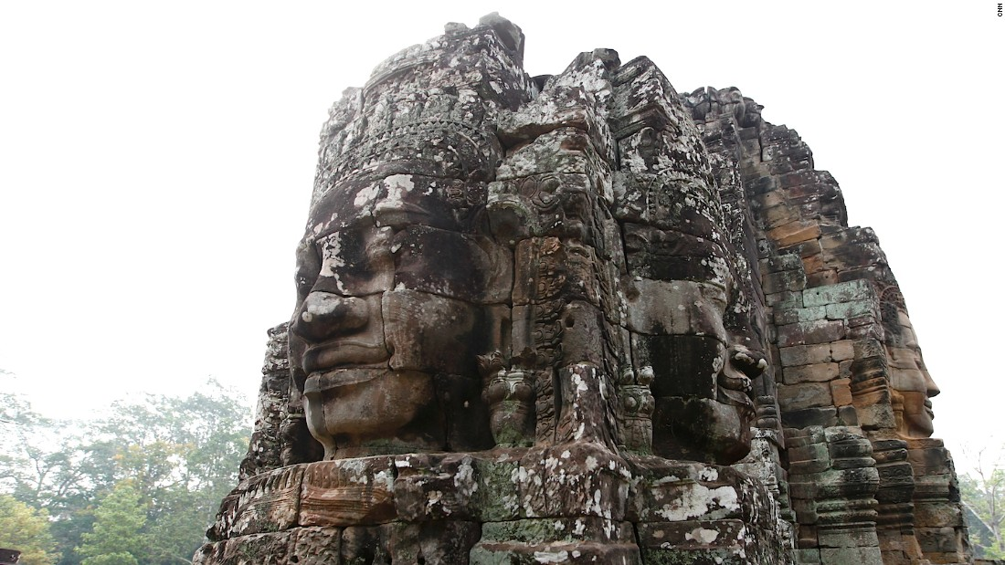 The faces of Angkor's Bayon Temple are believed to be representations of King Jayavarman VII, who ordered the construction of the temple in the 12th century.