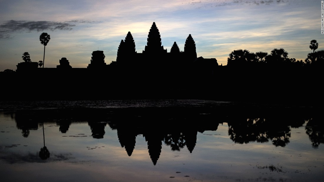 So beautiful, so misunderstood. To get this sunrise shot, you're going to be fighting with a few hundred other tourists, all crowded around Angkor Wat's moat.