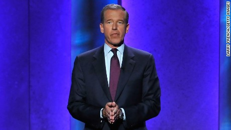 Caption:WASHINGTON, DC - JANUARY 07: Journalist Brian Williams hosts onstage at The Lincoln Awards: A Concert For Veterans & The Military Family presented by The Friars Foundation at John F. Kennedy Center for the Performing Arts on January 7, 2015 in Washington, DC. (Photo by Larry French/Getty Images for The Friars Club)