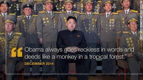 North Korea's verbal volleys