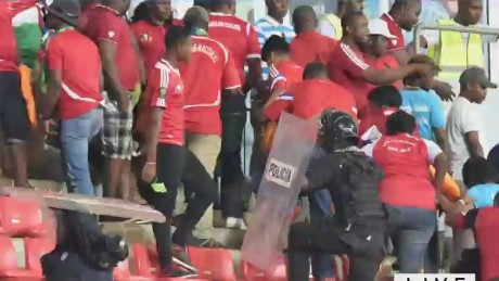 Violence erupts at Africa Cup of Nations