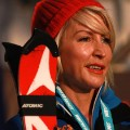 heather mills skiing portrait