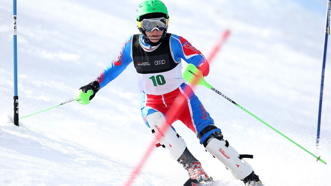 More typically on the slopes, Mills is usually accustomed to going around gates in slalom than breaking the speed barrier.
