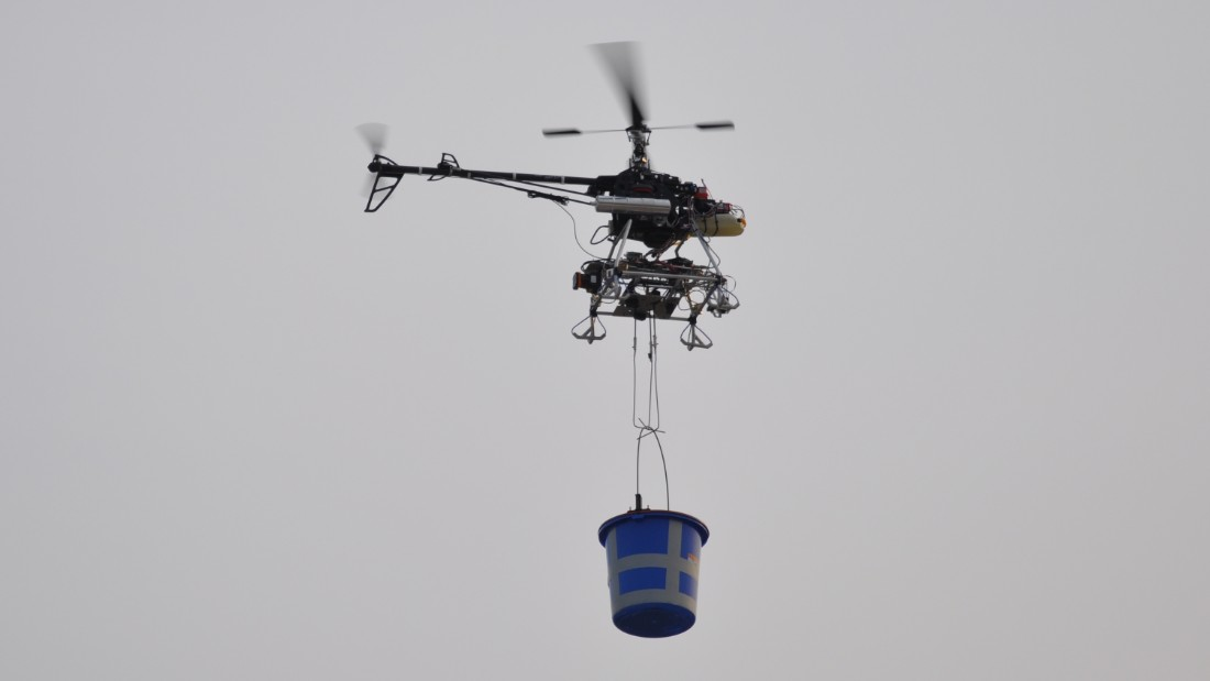 Drones can be used for transport, agriculture or security.