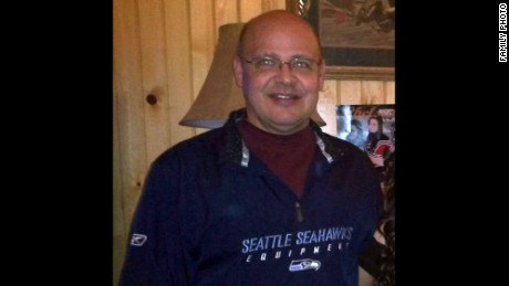 "Seahawks fan Michael Vedvik, who died of a heart attack, ""had a great sense of humor,"" his wife says."