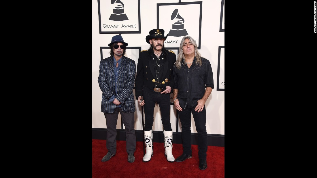 From left, Phil Campbell, Lemmy Kilmister and Mikkey Dee of Motorhead