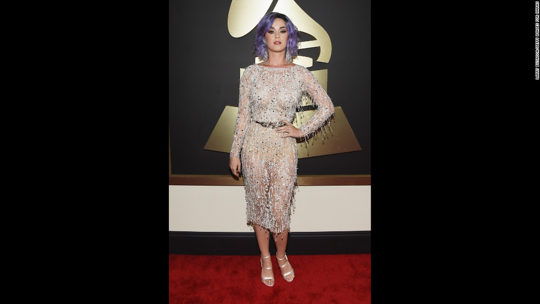 Perry on the red carpet at the 2015 Grammy Awards.