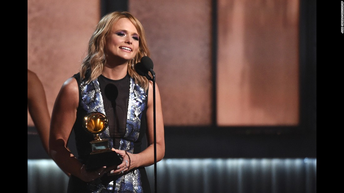 "Miranda Lambert takes the stage after winning Best Country Album for ""Platinum."""