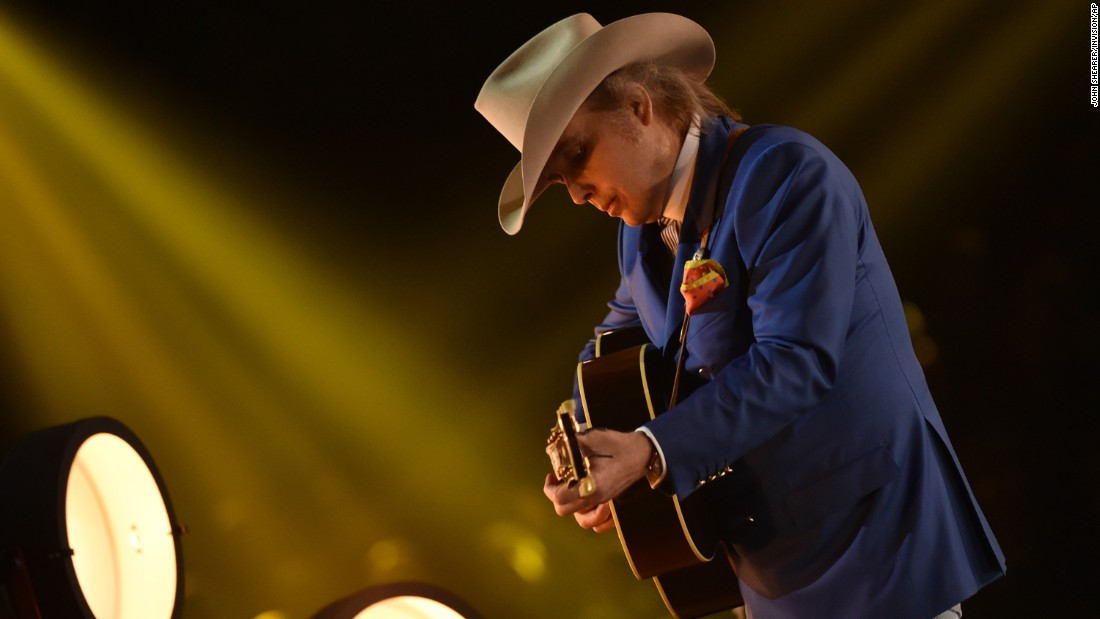 "Dwight Yoakam performs with Brandy Clark on Clark's song ""Hold My Hand."""