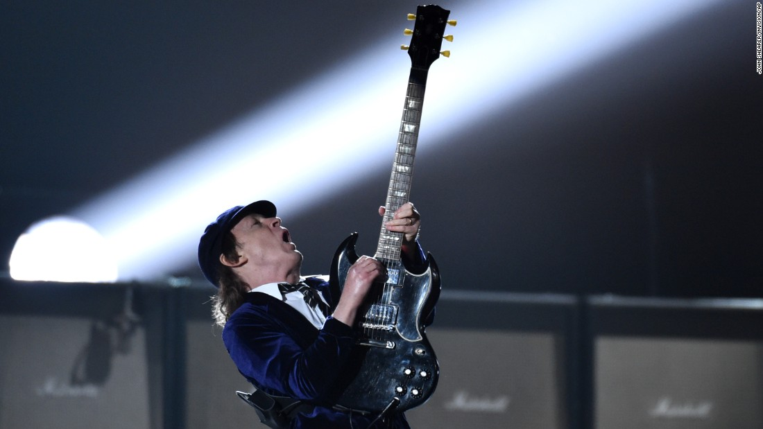 "AC/DC open the show with ""Rock or Bust"" and ""Highway to Hell."""