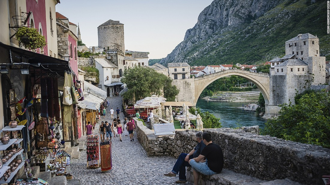 Mostar's battle scars remain in plain sight, but if the constant stream of canoodling lovers on Stari Most is any indication, its historic streets remain alluring.