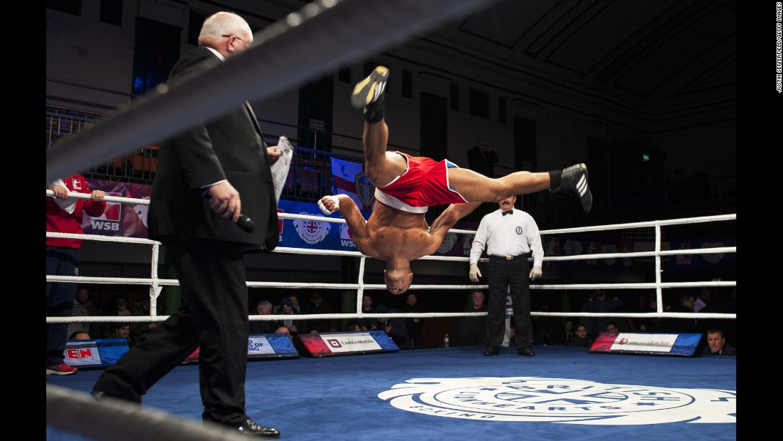 Joyce -- here celebrating a 2015 World Series of Boxing win with a backflip -- entered Earlsfield ABC Club as an inexperienced fighter at the age of 22. He became the European and Commonwealth champion before earning an Olympic silver medal, aged 31.