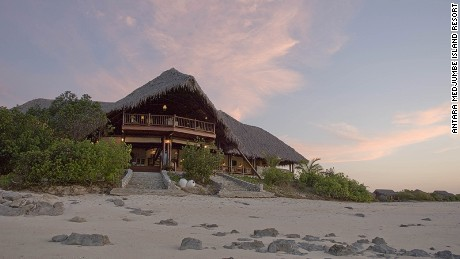 Anantara Medjumbe Island Resort sits on a tiny island in the Quirimbas Archipelago.