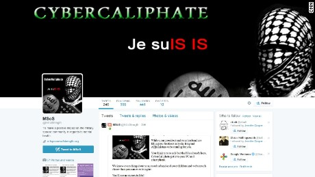 CyberCaliphate, a group claiming ties to ISIS, hacked the Twitter feed of Military Spouses of Strength, among others