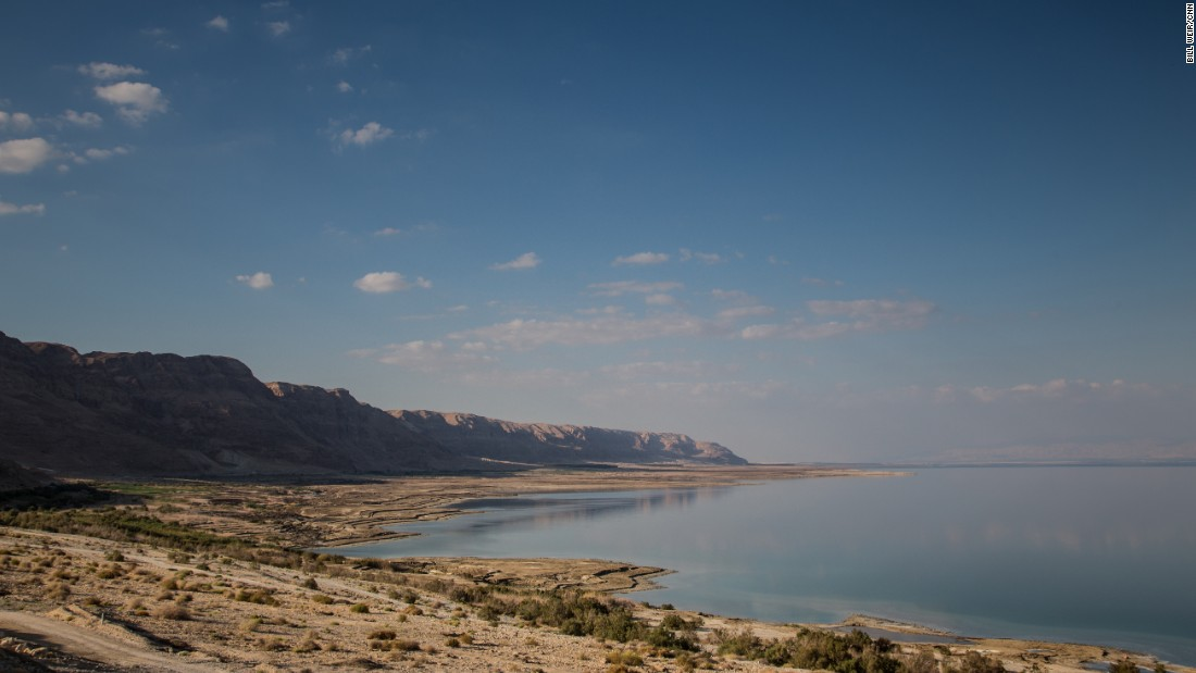 The southwestern coastline of the Dead Sea is in Israel. The sea also borders the West Bank and Jordan.
