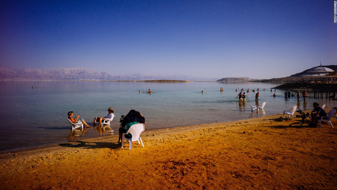 "The ""Wonder List"" crew films an interview with a local artist, Sigalit Landau, near the evaporation ponds of the Dead Sea."