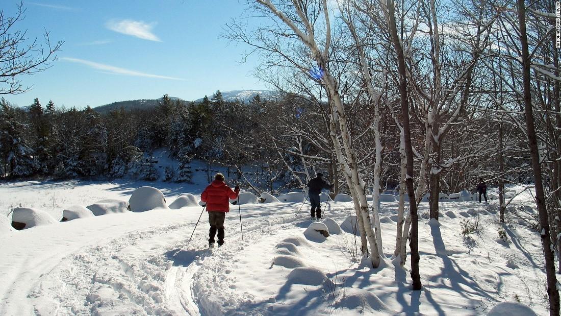 15 natural winter wonderlands for Acadia national park fishing